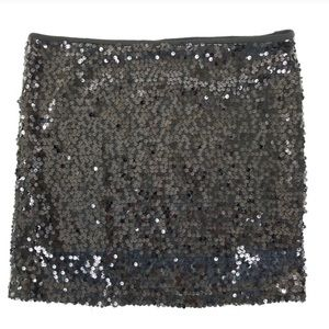 Poof Couture black sequin mini skirt. Size Small